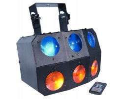 LIGHT4ME SIX Eye Beam strong LED beam effect + Remote control