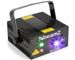 BeamZ Laser Helene Double 230mW RG Multi point, 1x 3W modrá LED