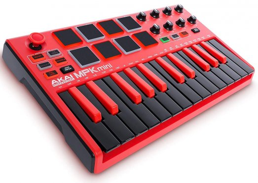Akai MPK mini MKII Red