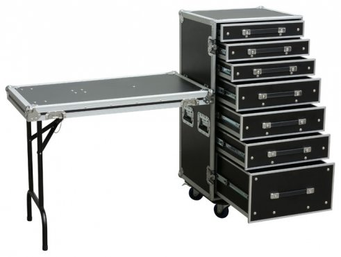 Power Dynamics FA5 7 Drawer Enginner Case With Table