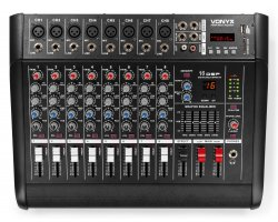 Vonyx AM8A 8-Channel Mixer With Amplifier DSP/BT/SD/USB/MP3