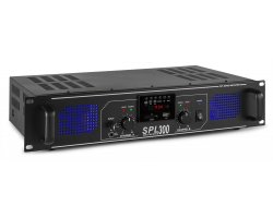 Skytec SPL 300MP3 Amplifier Blue LED + EQ Black