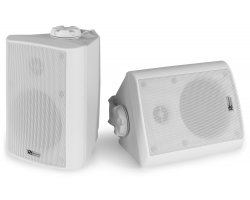 "Power Dynamics BC40V White Speaker Pair 100V 8 OHM 4"" 100W - IPX5"