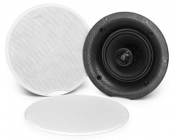Power Dynamics CSH65 2-Way Ceiling Speaker Set With Amplifier And BT 120W 6.5""