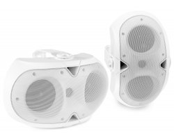 Power Dynamics BE42W In/Outdoor Speaker Set White 150W