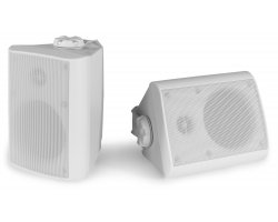 "Power Dynamics BGO40 Speaker Set In/Outdoor 4"" 100W White"