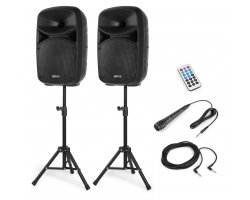 Vonyx VPS102A Plug & Play 600W Speaker SET With Stands