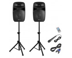 Vonyx VPS152A Plug & Play 1000W Speaker SET With Stands