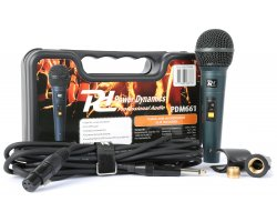 Power Dynamics PDM661 Dynamic vocal Microphone In Case