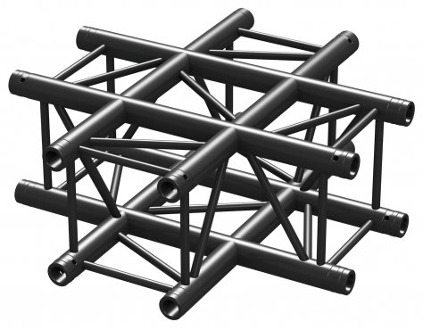 BeamZ Pro P30-C41 Truss 4 way X-junction 0,5m BLK